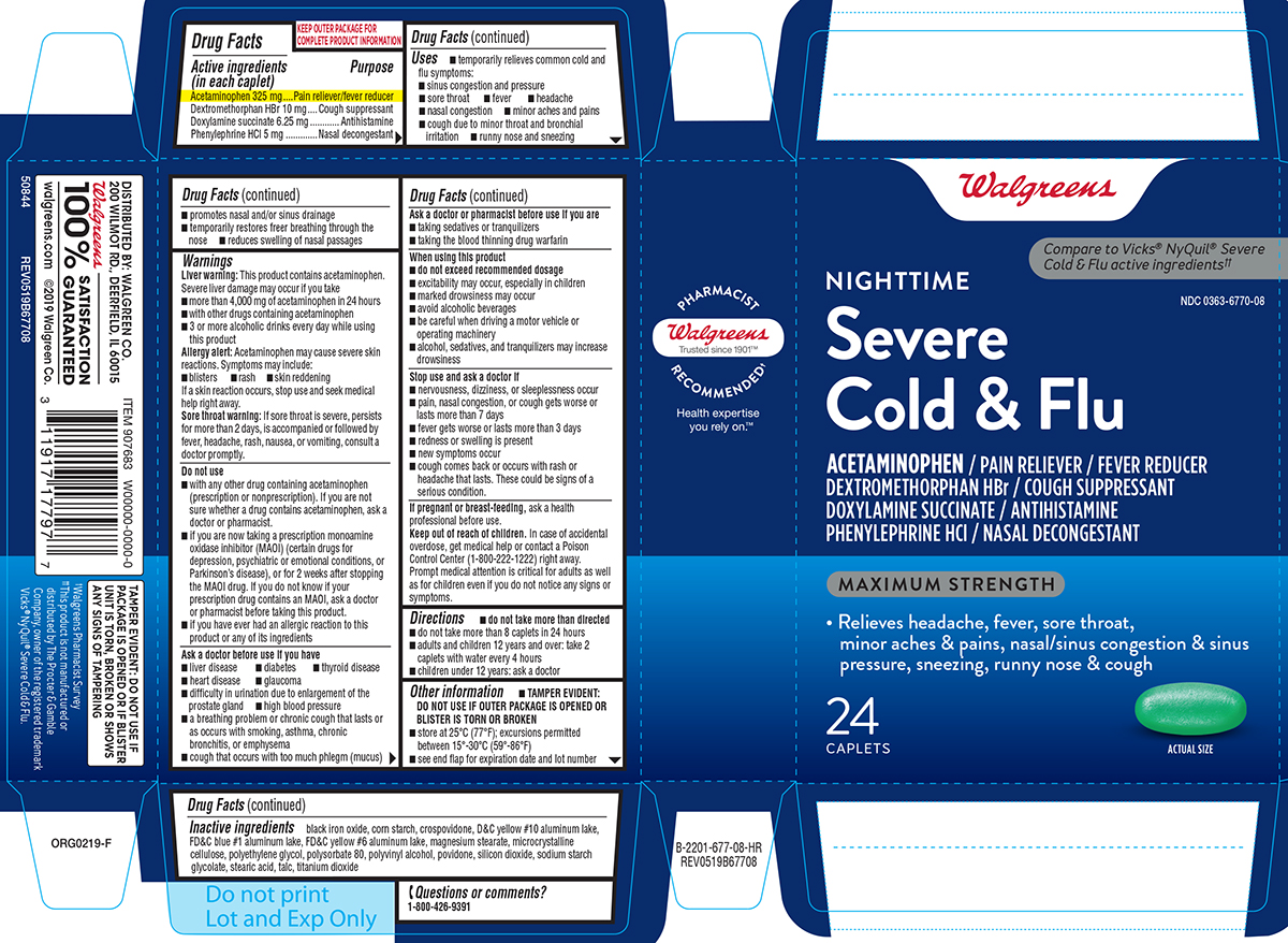 Cold and Flu Severe, Nighttime, Maximum Strength: Details