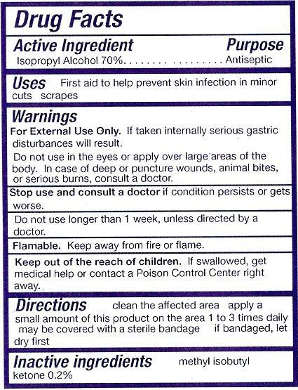 how to read otc drug labels
