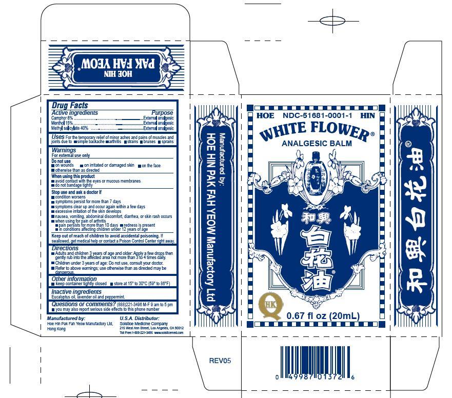 White Flower Analgesic Balm Details From The Fda Via Otclabels